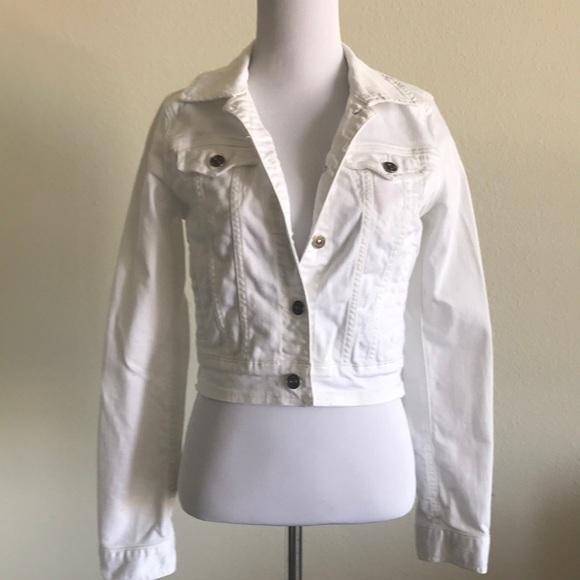 Just USA Jackets & Blazers - White Denim Jacket Small